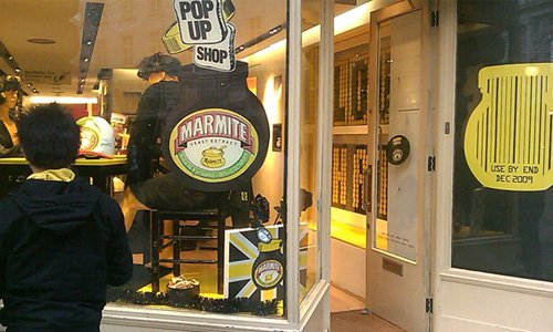 A mite too much? The Marmite Pop Up Shop