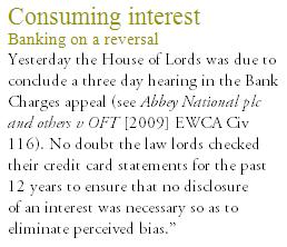 Law lords declare an interest