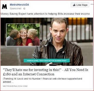 Martin lewis to sue facebook for defamation in groundbreaking below is a look a like fake mirror article which the above advert linked to ccuart Image collections