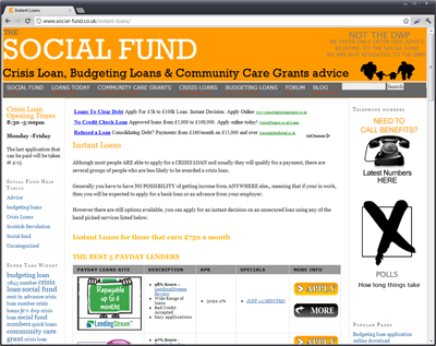 The 'social-fund.co.uk' website